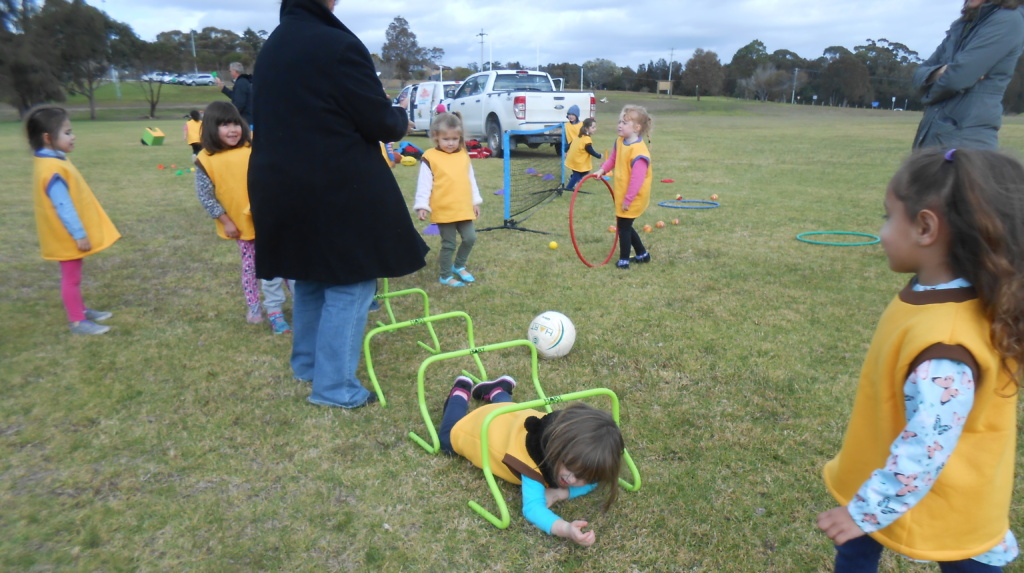 Children from Mogo Preschool taking part in activities to celebrate National Aboriginal and Torres Strait Islander Children's Day