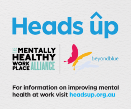 Click here to visit the Heads Up Mentally Healthy Workplace Alliance website for more information about improving mental health at work
