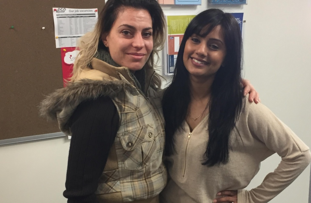 Spiroula with her Campbell Page Employment Consultant Pritpal