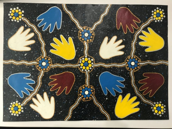 """Our Hands"" Acknowledgement of Country artwork"