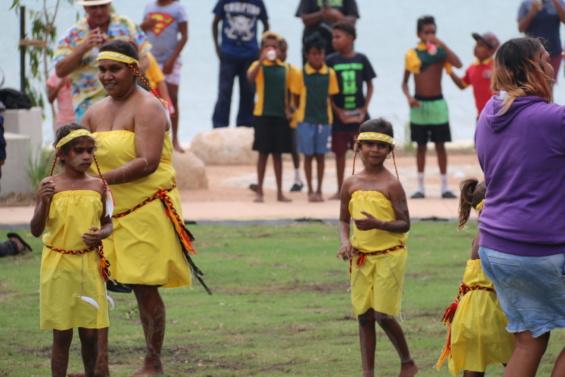 Palm Island Centenary Community event - Traditional dancers