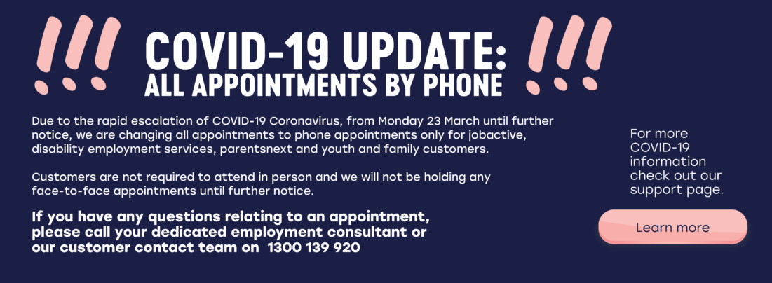 all appointments via phone